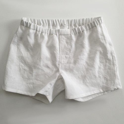 Linoto Linen boxer shorts in white