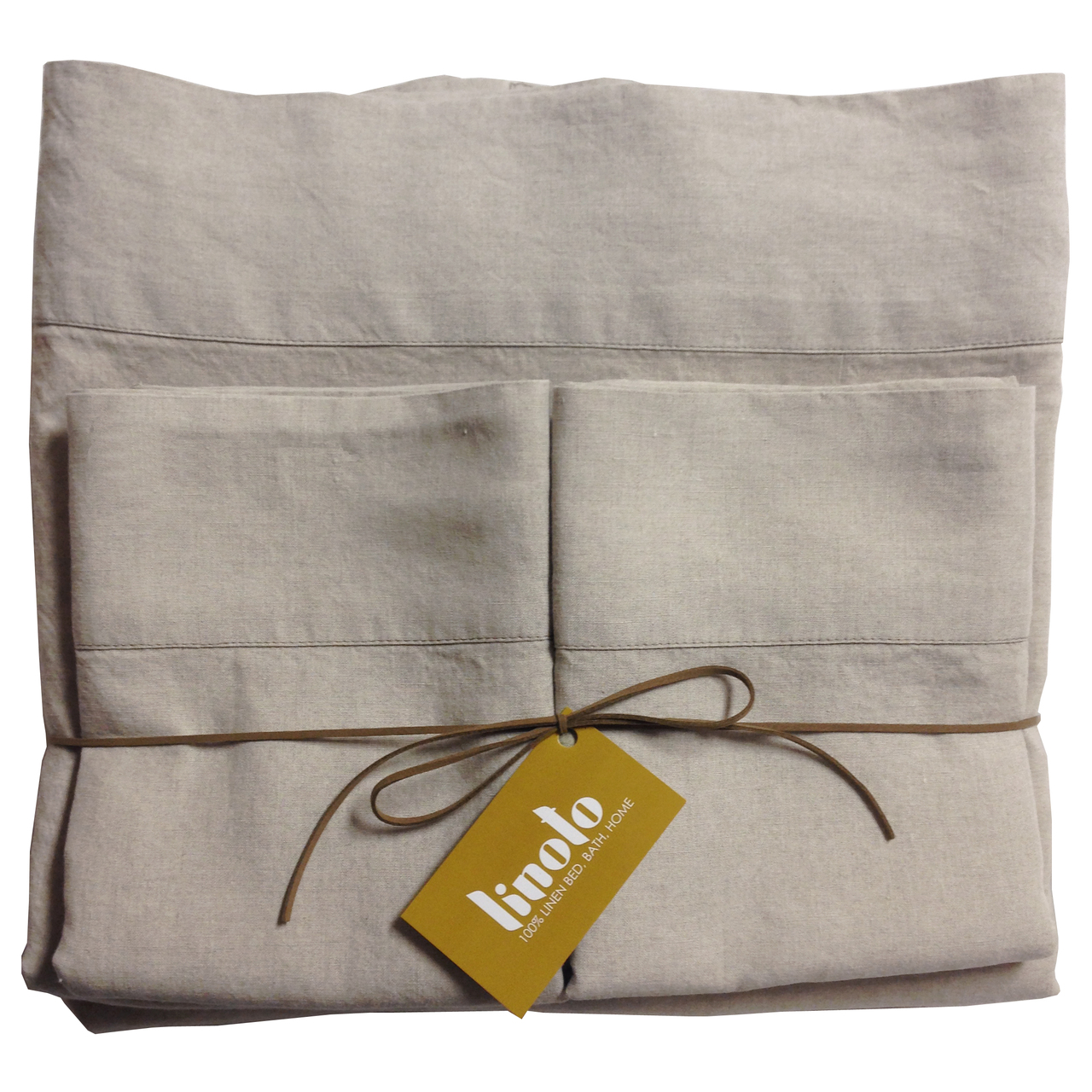 Linoto Organic Linen Sheet Set Made From GOTS Certified Organic Belgian  Linen. Made In USA