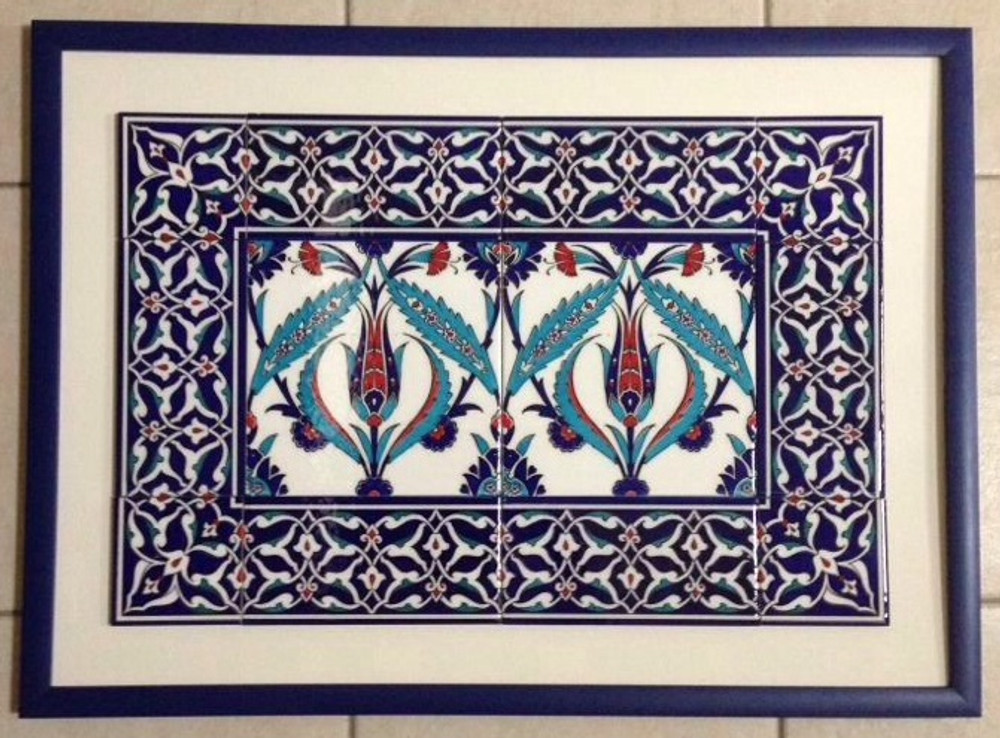 Border and Corner Tile used in framed tile art