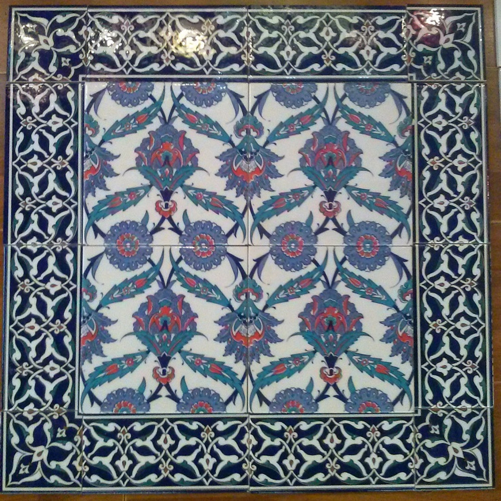 Floral Wall Tiles with Border 40