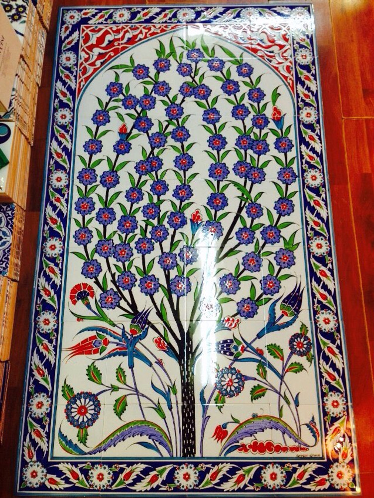 28pc hand painted  ceramic wall tile art