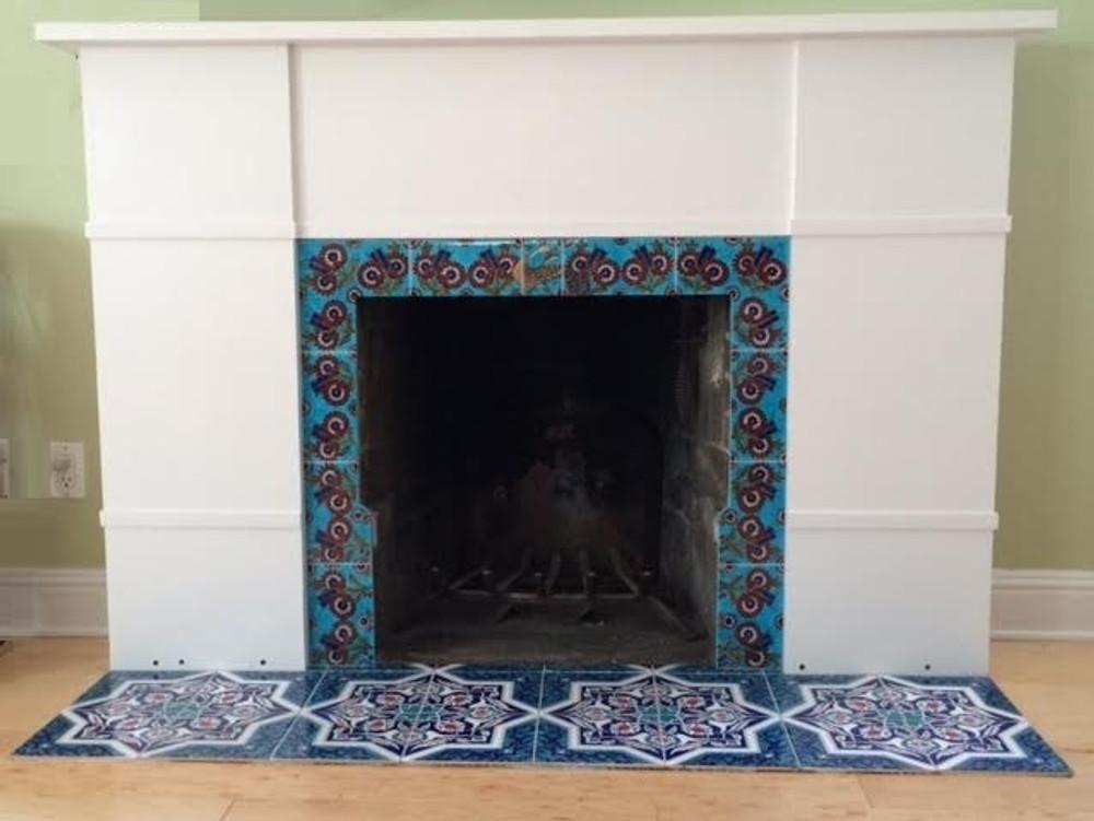 Fireplace floor  Frame - Iznik Quartz Special Design courtesy: Albany, California - USA