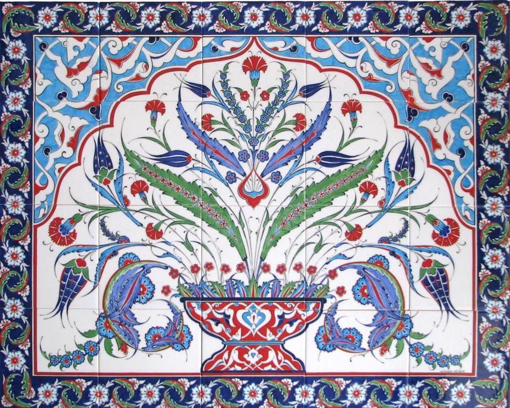 100x80cm - Fountainhead Ceramic Tile Mural Backsplash