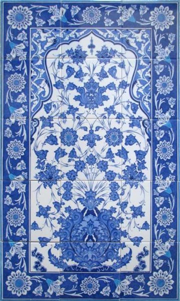 60x100cm Iznik Art  Ceramic Tile Backsplash