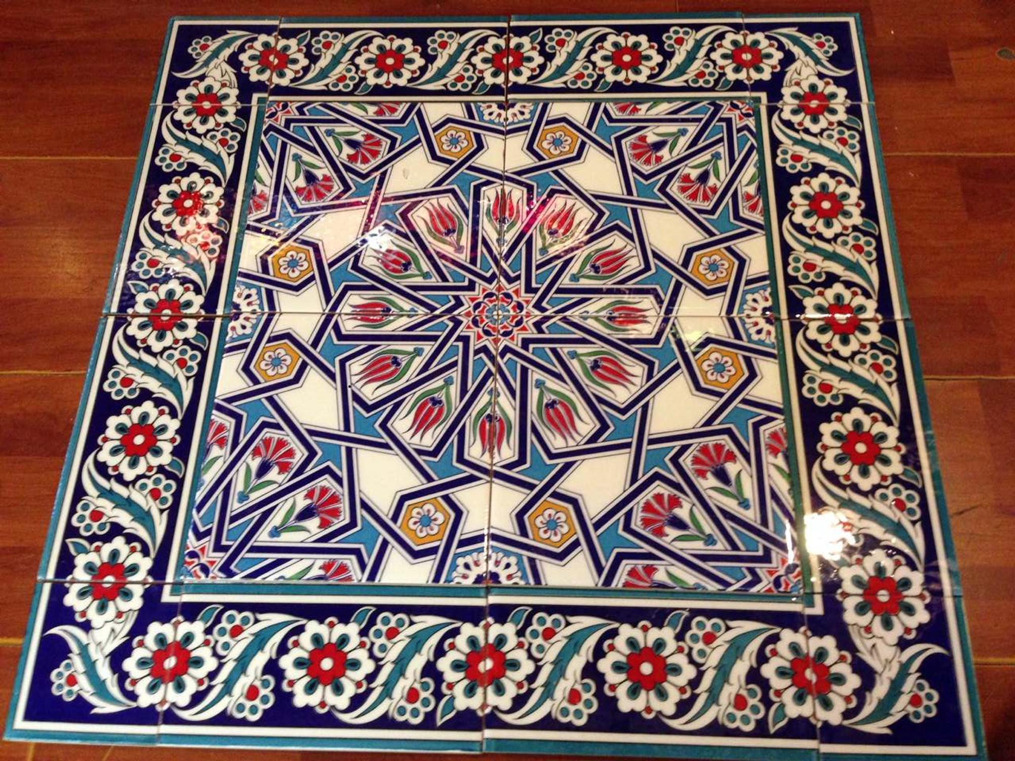 Turkish Ceramic Iznik Art Wall Tiles