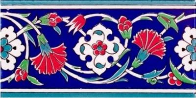 "10x20cm (4x8"") Border Turkish Wall Tile"