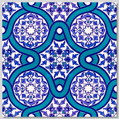 """Continuous Pattern  Wall Tiles for kitchen or bathroom 40x40cm (16x16"""") layout"""