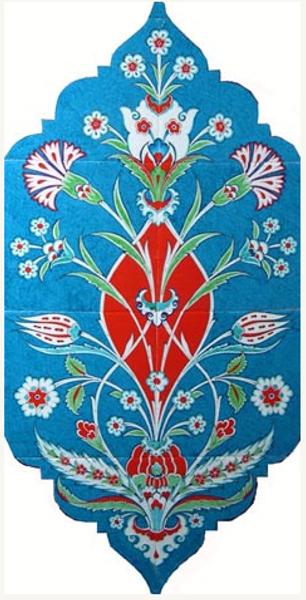 40cm x 80cm Ceramic Tile Iznik Wall Art