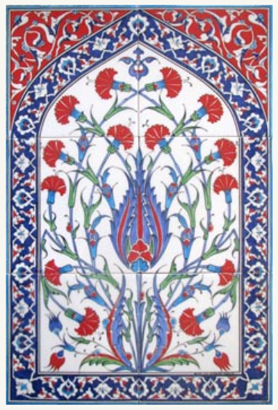 Iznik art wall tiles, backsplash, unique designs and more
