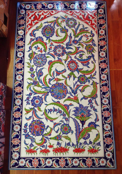 80cm x 140cm Ceramic Iznik Art Wall Tiles
