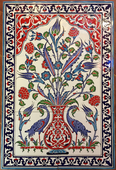 40x60cm glazed ceramic Iznik Art tiles