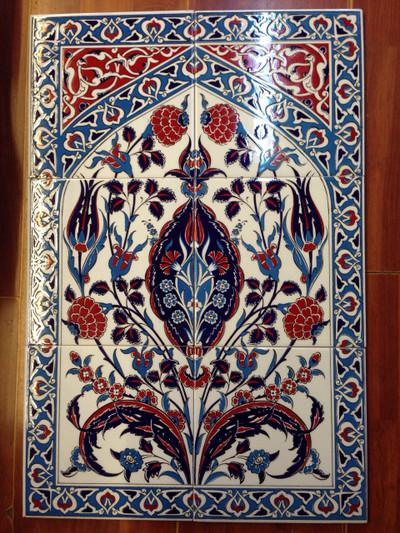 Wild Life Pano 60cm x 40cm ceramic wall tile art