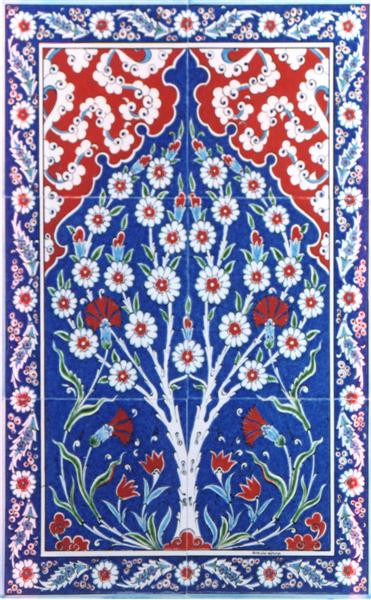40x60cm (6pc Iznik art tile mural)