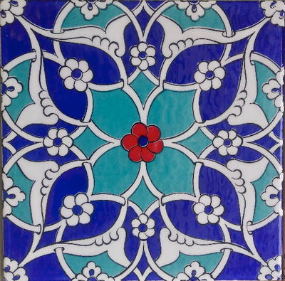 20x20cm dry press Iznik Art Wall Tile