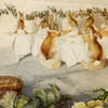 Art Prints of A Rabbit's Christmas Party, The Meal by Beatrix Potter