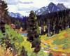 Art Prints of Mount Moran from near Jenny Lake by Carl Rungius