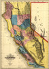 Art Prints of New Map of the Gold Region in California by Gibbes, Sherman and Smith