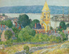 Art Prints of Shingling, the First Baptist Church, Gloucester by Childe Hassam