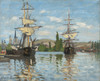 Art Prints of Ships Riding on the Seine at Rouen by Claude Monet
