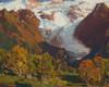 Art Prints of Glacier in Autumn, Chamonix, France by Edgar Payne