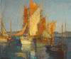 Art Prints of Sailboats in Harbor by Edgar Payne