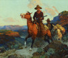 Art Prints of Land Beyond the Law by Frank Tenney Johnson