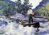 Art Prints of Running the Rapids by Frank Weston Benson
