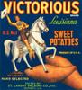 Art Prints of 003 Victorius Sweet Potato, Fruit Crate Labels