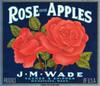 062 Rose Apples, Wenatchee Washington, Fruit Crate Labels | Fine Art Print