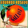 059 Eduardo Rosello Gallant, Fruit Crate Labels   Fine Art Print
