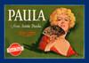 081 Paula Brand from Santa Paula, Fruit Crate Labels | Fine Art Print