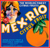 086 Mex-Rio Citrus Fruit, Fruit Crate Labels | Fine Art Print