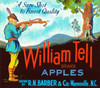 087 William Tell Apples, Fruit Crate Labels | Fine Art Print