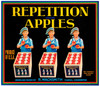 095 Repetition Apples, Fruit Crate Labels | Fine Art Print