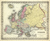 Europe, 1856 (0149069) by G.W. Colton | Fine Art Print