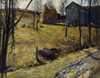 Haystacks and Barn by George Bellows   Fine Art Print