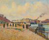 Art Prints of Quay Saint-Bernard Paris by Jean-Baptiste-Armand Guillaumin