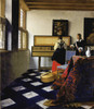 Art Prints of Lady at the Virginal with Gentleman, Music Lesson by Johannes Vermeer