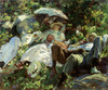 Art Prints of Group with Parasols, a Siesta by John Singer Sargent