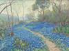 Art Prints of A Hillside of Bluebonnets, Early Morning by Julian Onderdonk