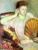 Art Prints of Clarissa Turned Right with Her Hand to Her Ear by Mary Cassatt