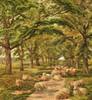 Art Prints of Sheep Resting on a Wooded Path by Robert Walker Macbeth