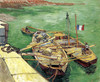 Art Prints of Quay with Men Unloading Sand Barges by Vincent Van Gogh