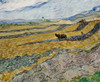 Art Prints of Enclosed Field with Ploughman by Vincent Van Gogh