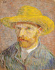 Art Prints of Self Portrait in a Straw Hat I by Vincent Van Gogh