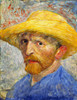 Art Prints of Self Portrait in a Straw Hat III, 1887 by Vincent Van Gogh