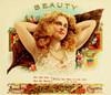 Art Prints of Beauty Cigars, Vintage Cigar Label
