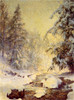 Art Prints of A Brook in Winter by Walter Launt Palmer