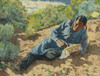 Art Prints of Indian Playing a Drum by Walter Ufer