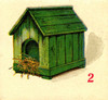 Art Prints of Game Piece, Doghouse, Vintage Game Pieces & Playing Cards